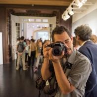 """Vernissage JH Lartigue eu Théâtre de la Photographie de Nice.""""Portraits Photo"""" en soutien au TPI.©O. Remualdo"""